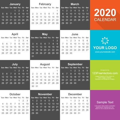 Free Download Calendar 2020