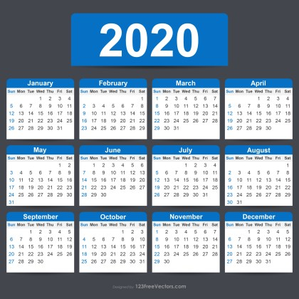 Free Editable Calendar 2020