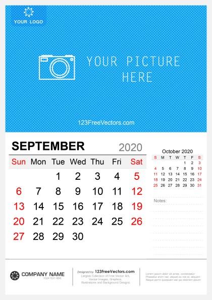 Wall Calendar September 2020