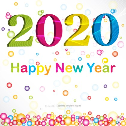 New Year Card Design 2020