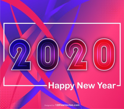 New Year 2020 Liquid Color Image
