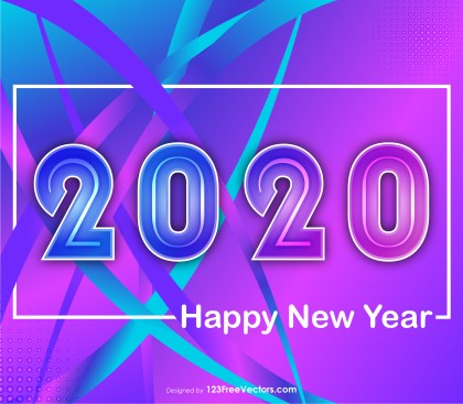 New Year Liquid Color Background 2020