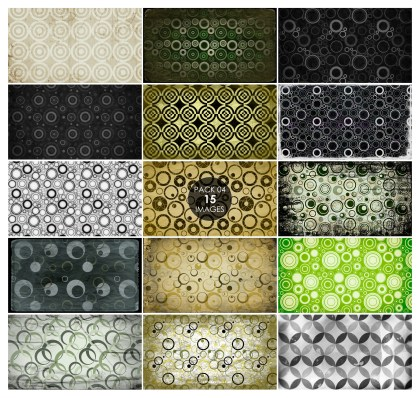 15 Grunge Circle Pattern Background Pack 04