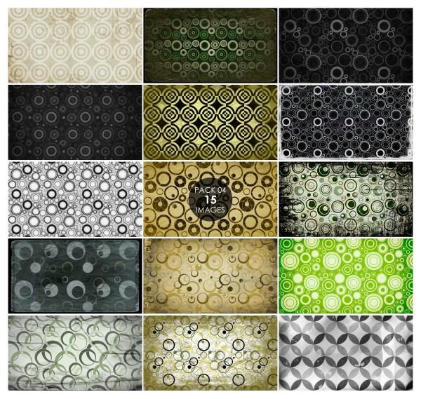15 Grunge Circle Pattern Background Pack 04
