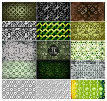 15 Grunge Seamless Circle Background Pattern Pack 05