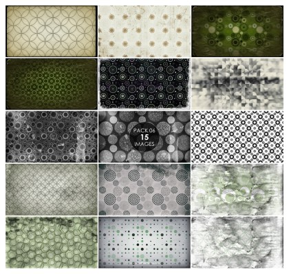 15 Grunge Seamless Circle Pattern Background Pack 06