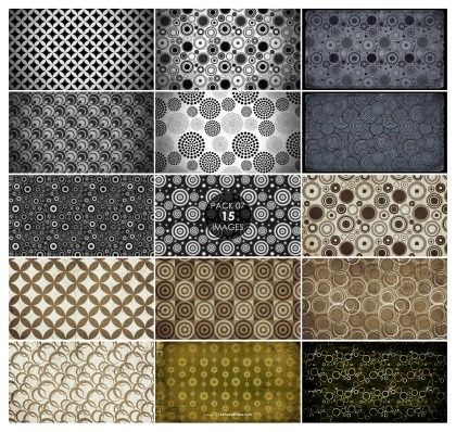15 Grunge Circle Pattern Background Pack 07