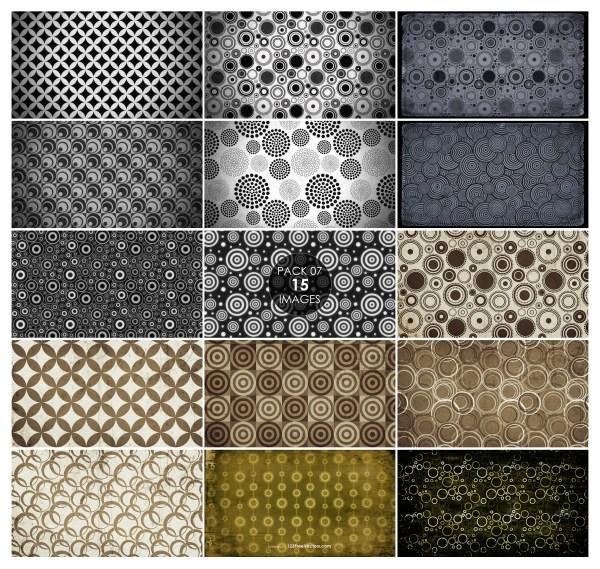 15 Grunge Circle Pattern Background Pack 07