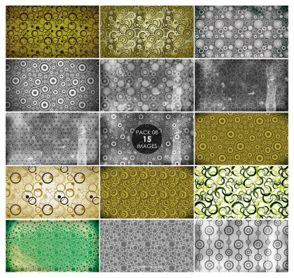 15 Grunge Circle Background Pattern Pack 08
