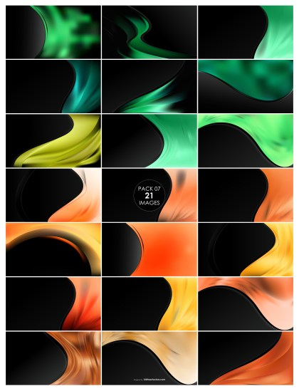 21 Green and Orange Wave Business Background Pack 07