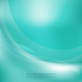 Abstract Turquoise Wave Background