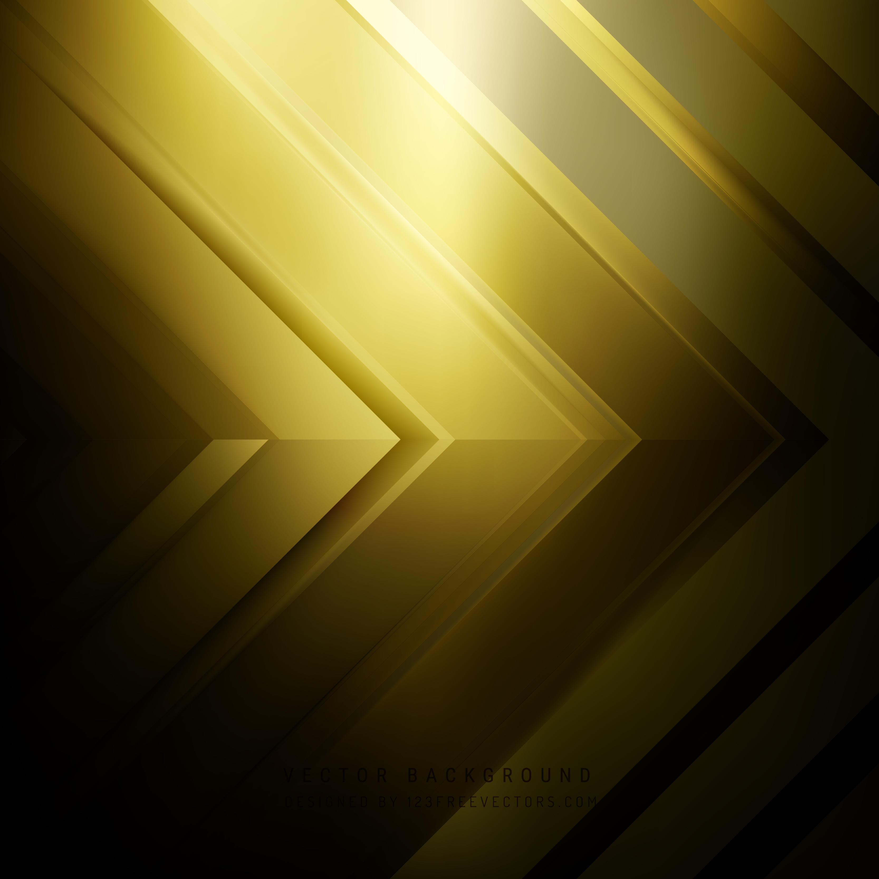 Abstract Black Gold Arrow Background Design
