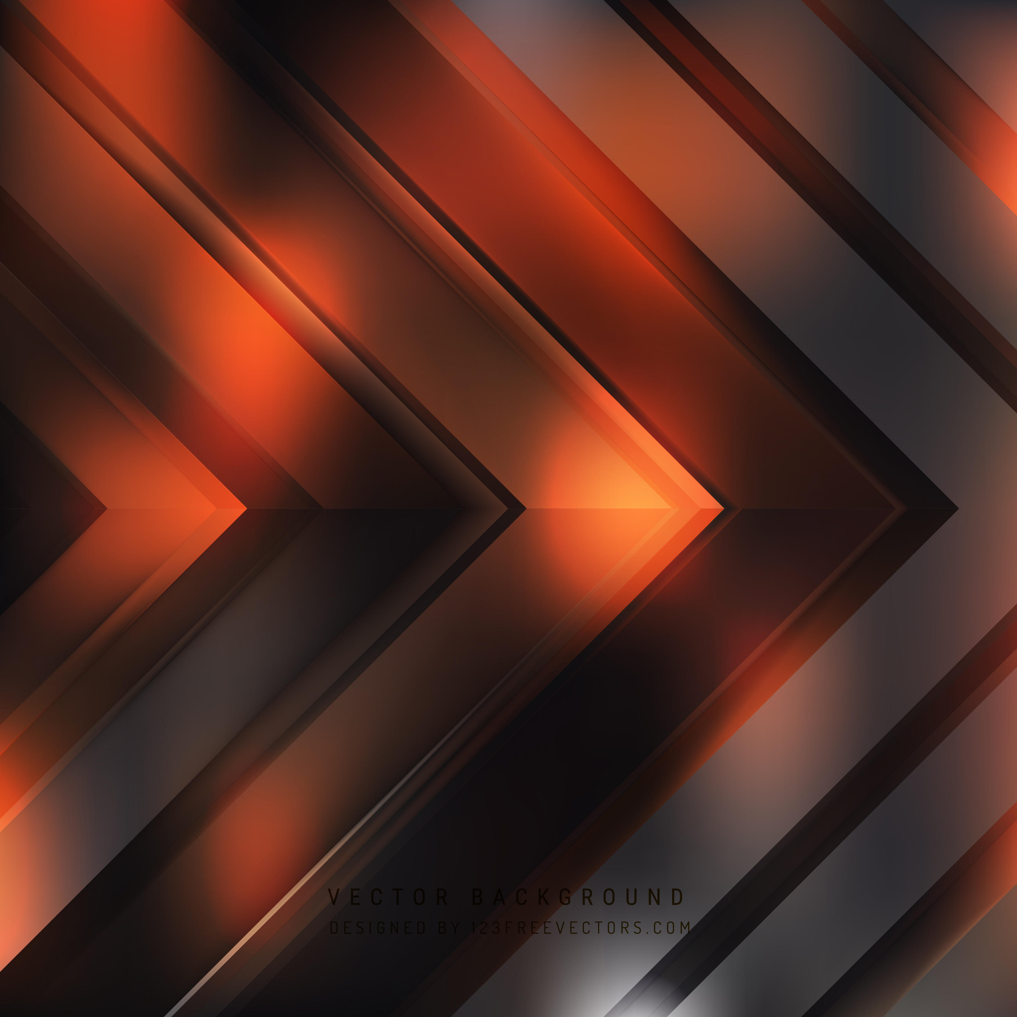 Abstract Black Orange Arrow Background Template