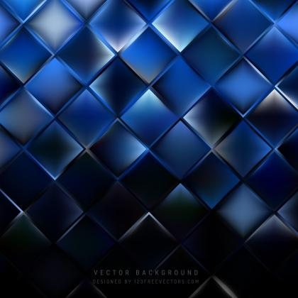Blue Black Square Background Pattern