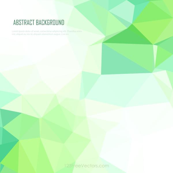 Bright Mint Green Geometric Polygon Background Image