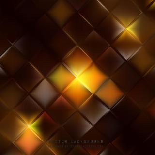 Black Orange Geometric Square Background