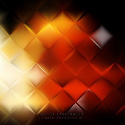 Abstract Black Orange Fire Square Background Design
