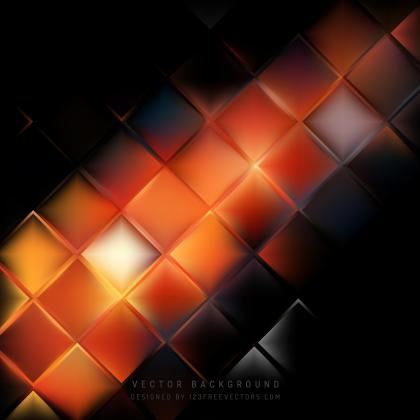 Black Orange Fire Square Background