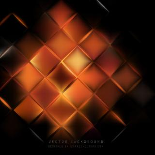 Black Orange Fire Square Background Design