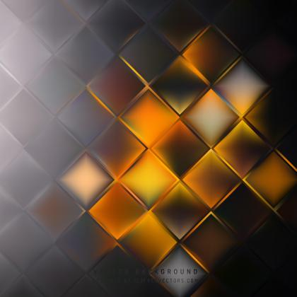 Abstract Black Orange Fire Square Background Template