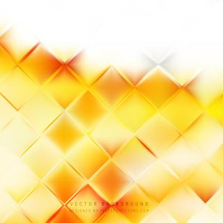 Abstract Yellow Orange Geometric Square Background