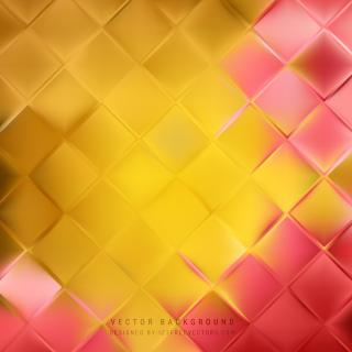 Yellow Orange Geometric Square Background