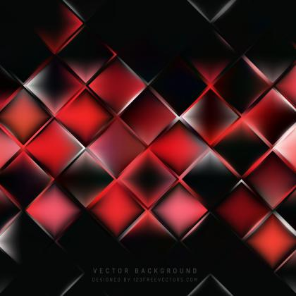 Abstract Red Black Square Background Pattern