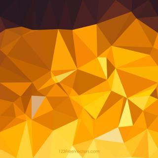 Dark Golden Brown Low Poly Background Design