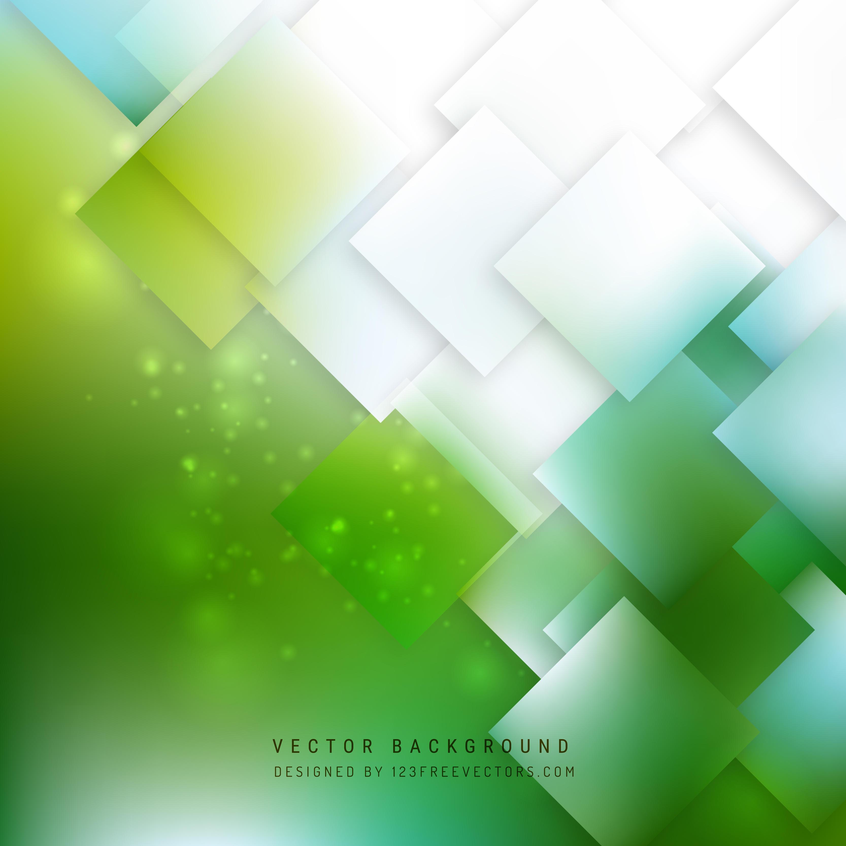 Abstract Blue Green Square Background Design