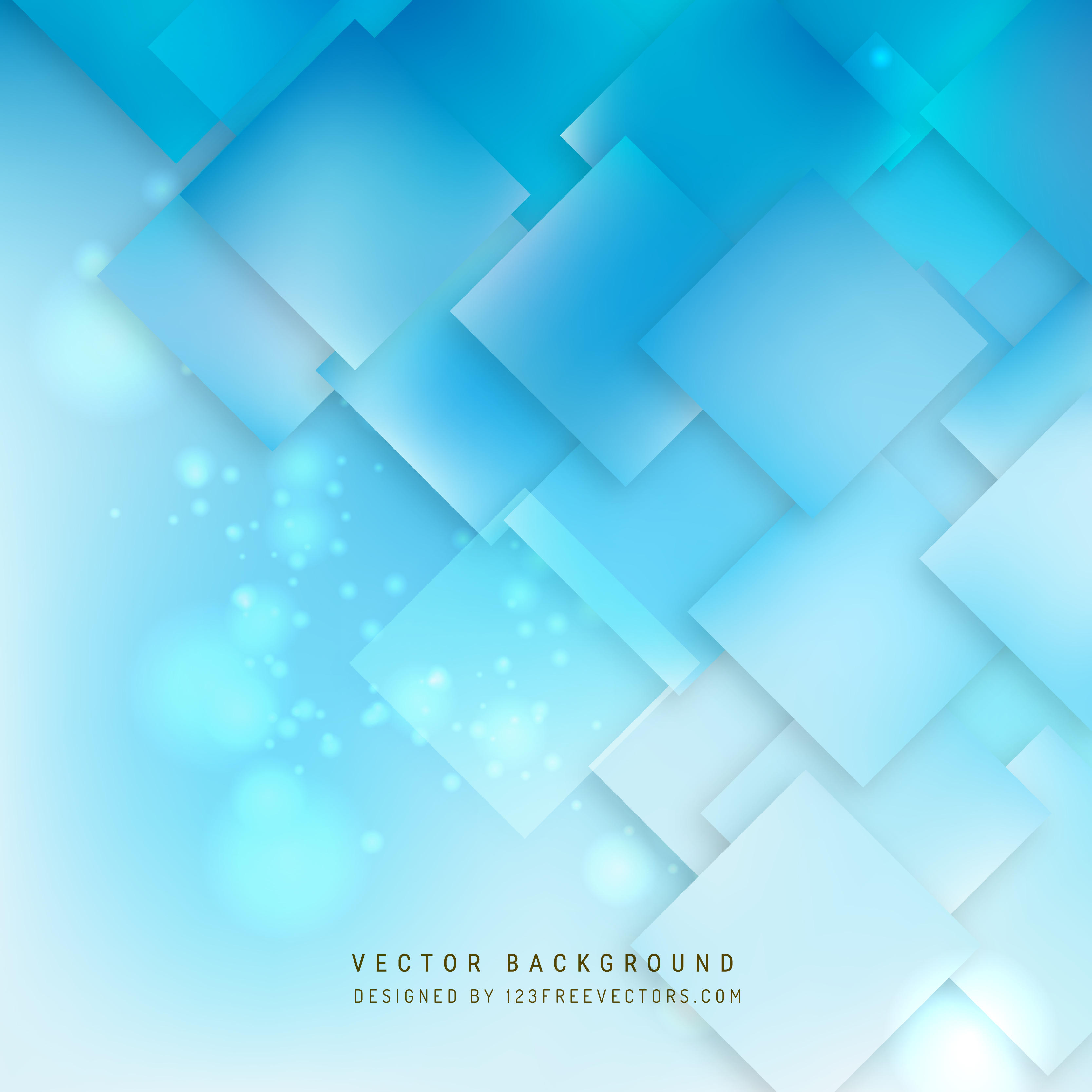 Abstract Light Blue Geometric Square Background