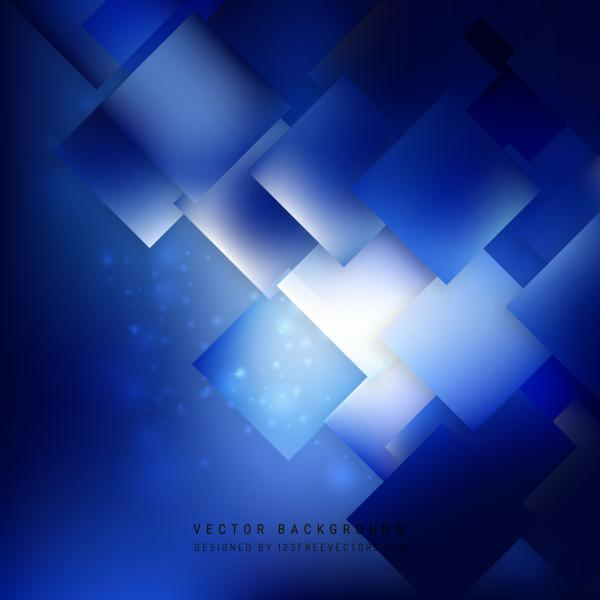 Abstract Navy Blue Square Background Template