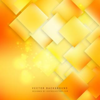 Abstract Yellow Orange Square Background Pattern