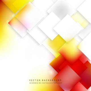 Abstract Red Yellow Geometric Square Background