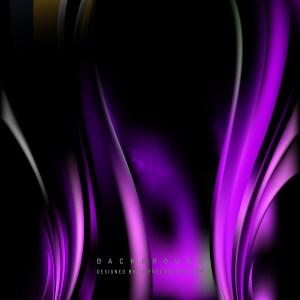 Purple Black Wave Background Template