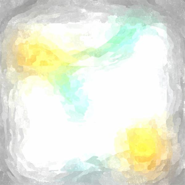 Light Grey and Yellow Green Watercolor Background
