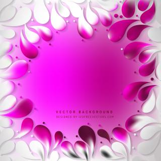 Pink White Arc Drops Background Template