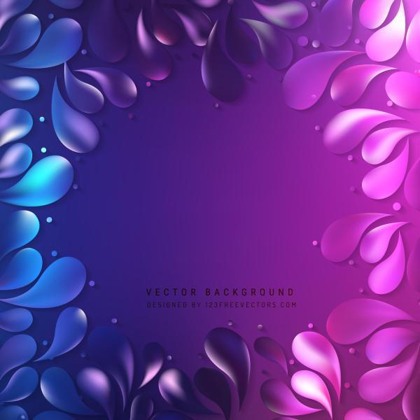 Blue Purple Arc Drops Background