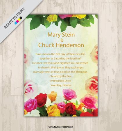 250 Wedding Invitation Templates Vectors Download Free