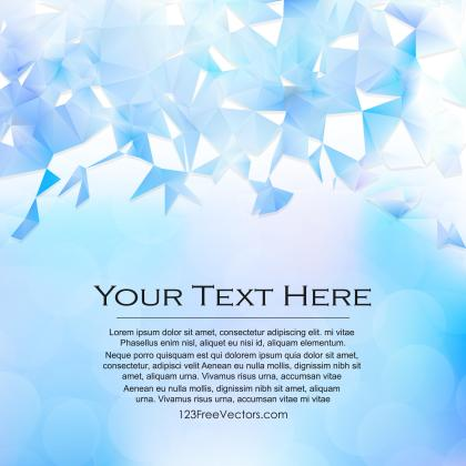 Light Blue Triangle Polygonal Background