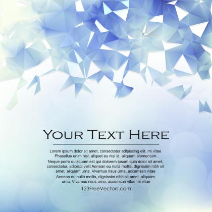 Light Blue Triangle Polygonal Background Design