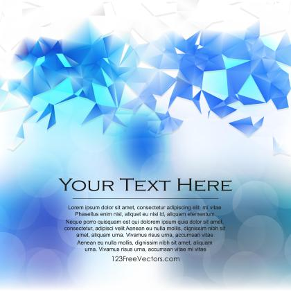 Light Blue Triangle Polygonal Background Template