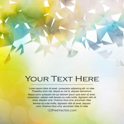 Abstract Light Color Polygon Triangle Background
