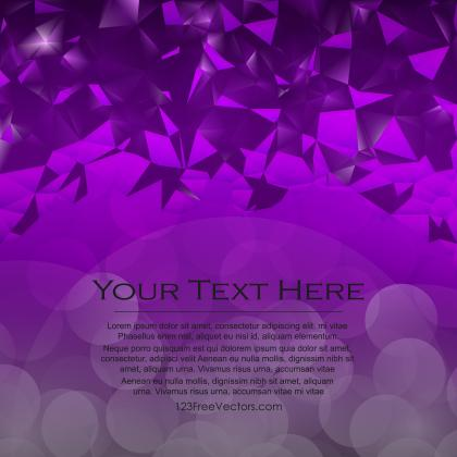 Abstract Purple Triangle Polygonal Background Design