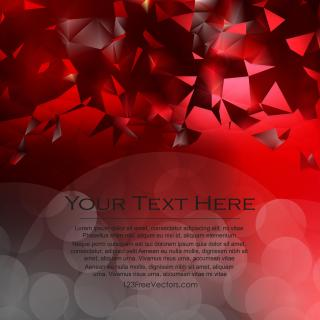 Dark Red Triangle Polygonal Background
