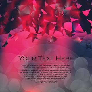Dark Red Triangle Polygonal Background Design