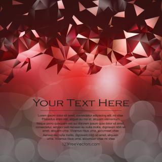 Dark Red Triangle Polygonal Background Template
