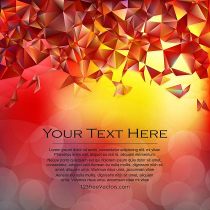 Red Yellow Polygonal Triangular Background