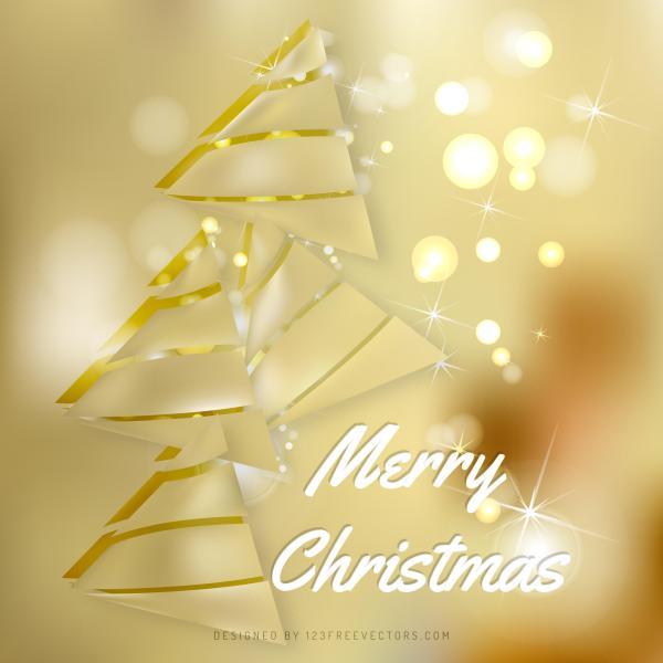 Gold Christmas Tree Background Design