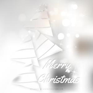 White Christmas Tree Background Graphics