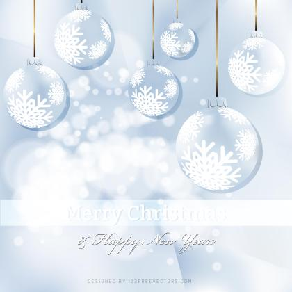 Light Blue Christmas Balls Background Image